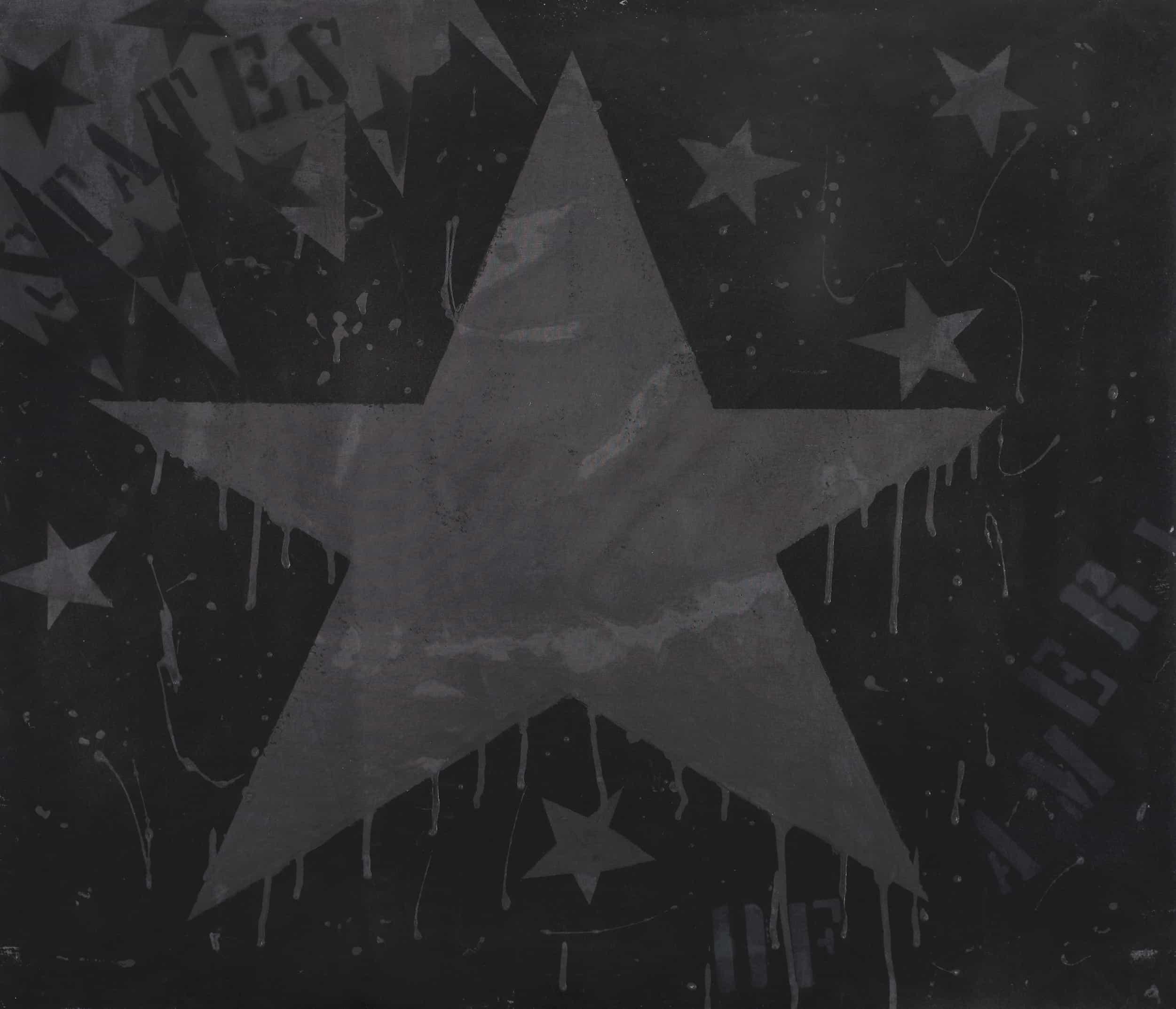 Angeli - Senza titolo, 1965 Tecnica mista su tela con velatino, cm 60x70