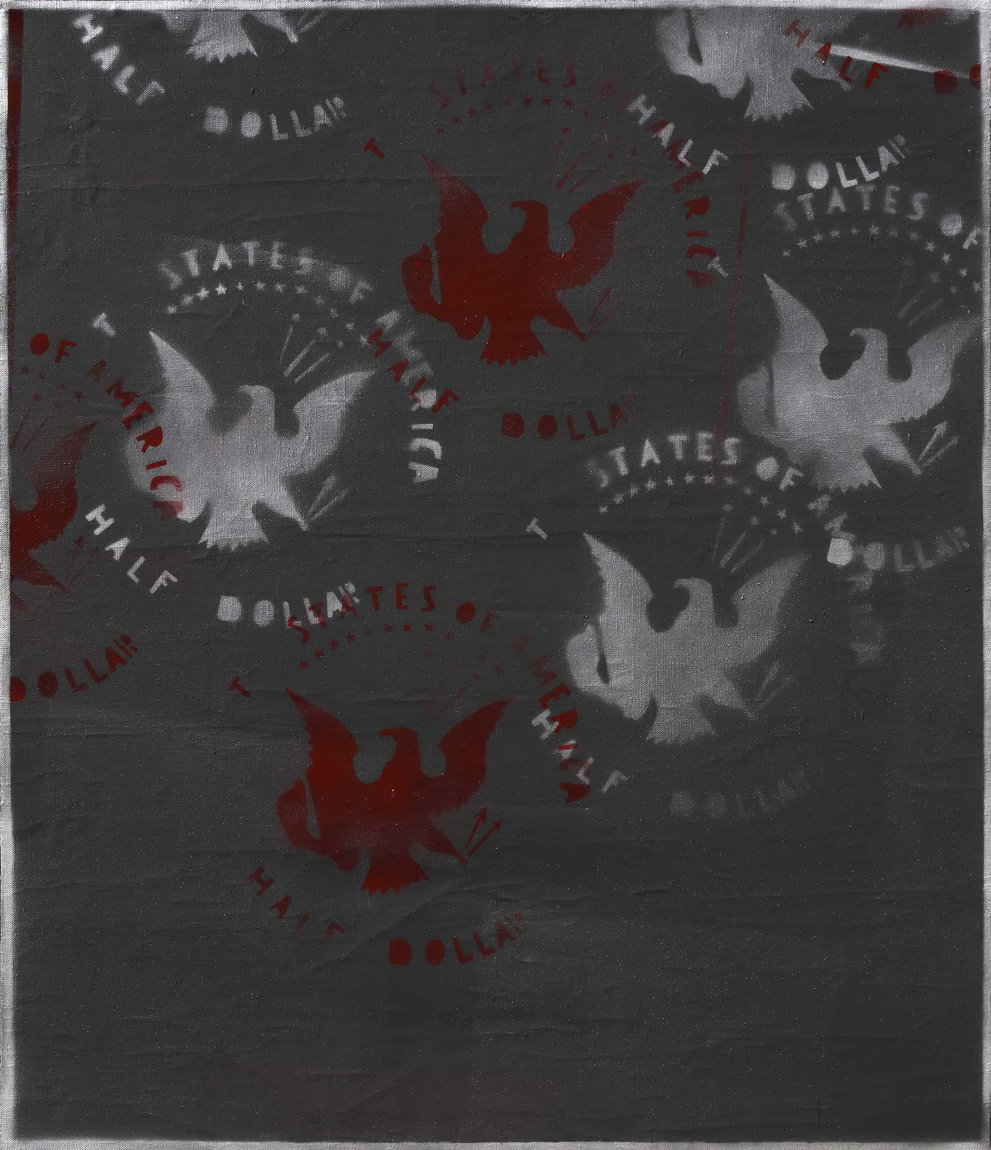 Franco Angeli - Senza Titolo, Seconda metà anni 70 - Acrilico su tela, cm 80x70