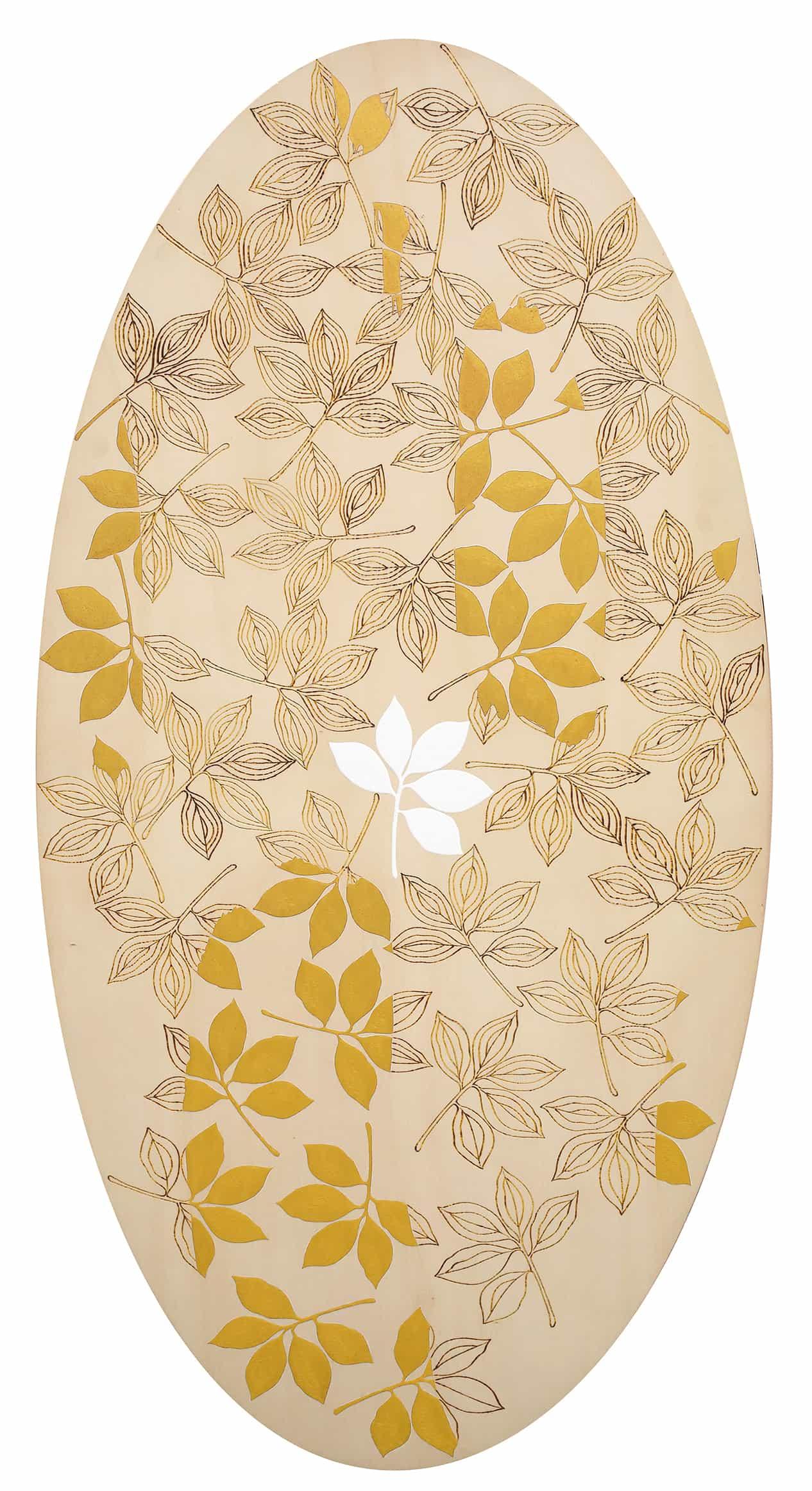 Giuseppe Salvatori - Ver sacrum, 2006 - Tempera, oro e incisioni su tavola, cm 140x70