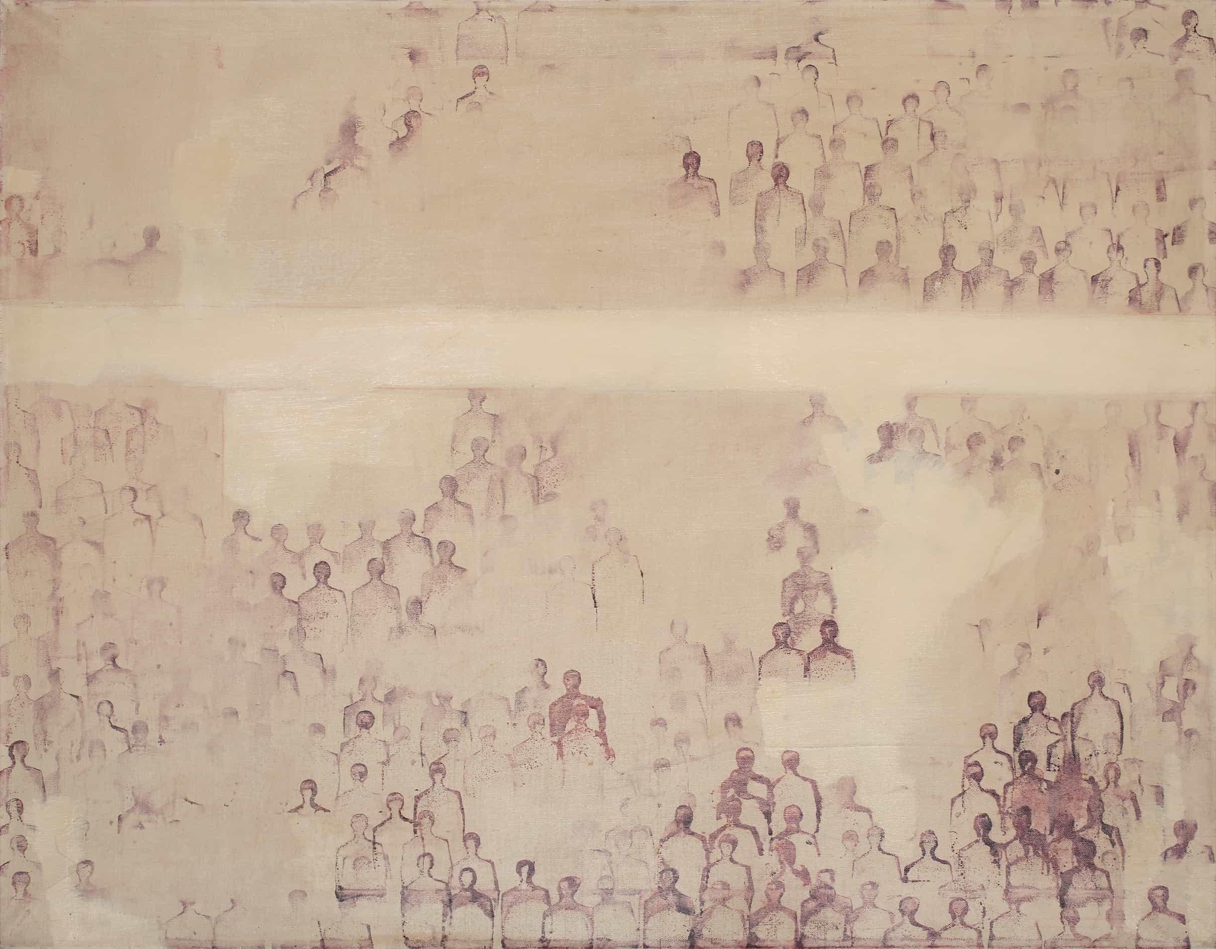 Renato Mambor - Omaggio a Lima, 1964 - Tecnica mista su tela, cm 80x100