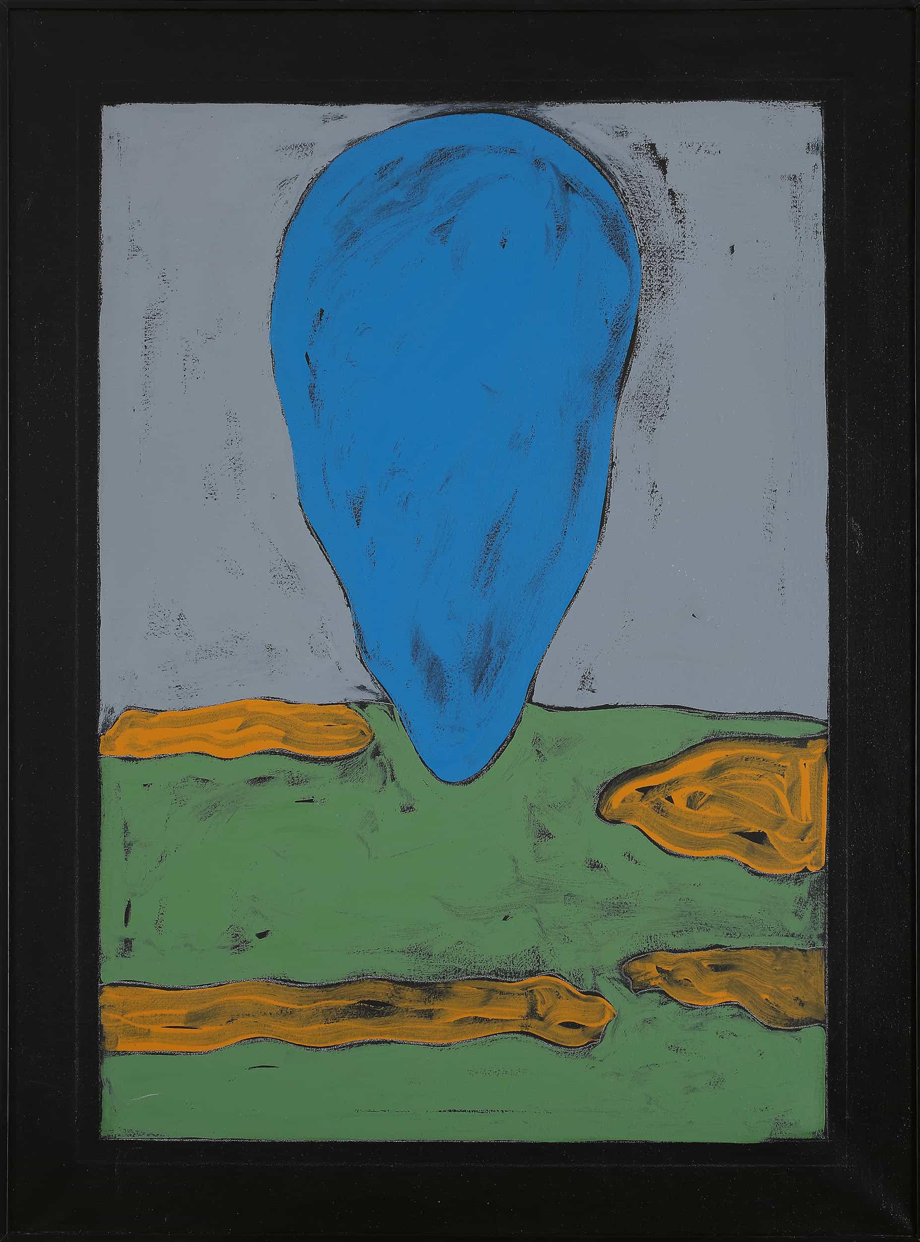 Tano Festa - Paesaggio senza luce, 1976 acrilico su tela, cm 80x60